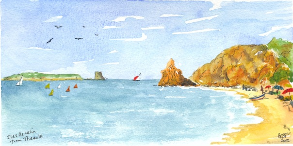 Iles de Lerin from Theoule on the Esterel Coast