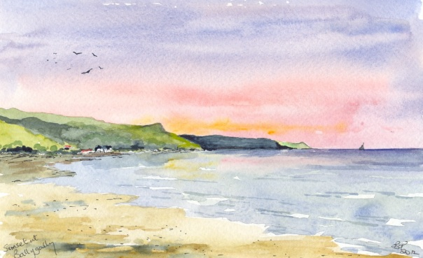 Sunset at Ballygally on the Antrim Coast