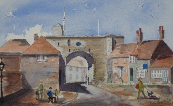 Painting at the Landgate, Rye
