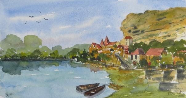 Beynac on The Dordogne river
