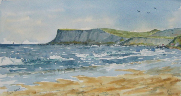 Fair Head seen from Ballycastle. Co Antrim.