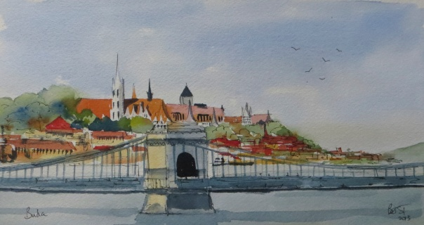 Old Buda and the Chain bridge (1)