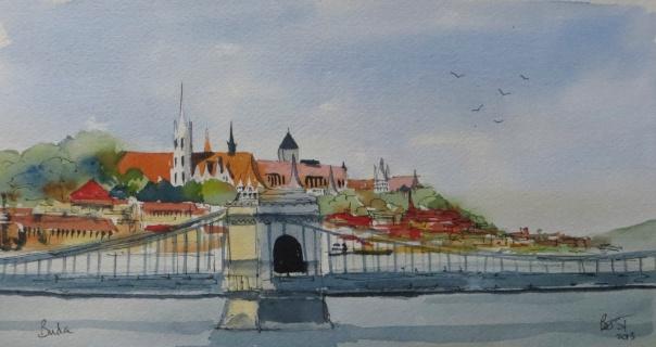 Old Buda and the Chain bridge (1)