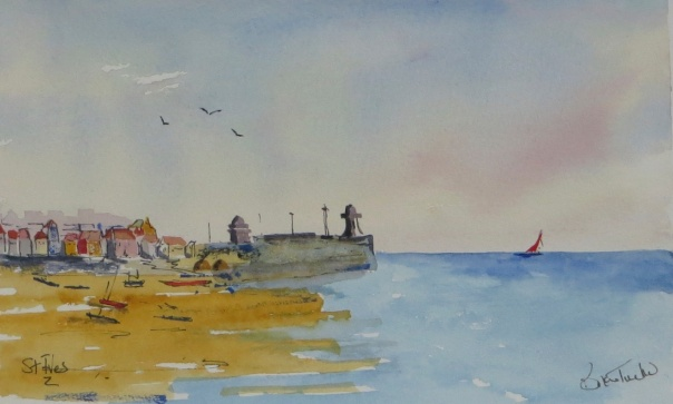 A very quick watercolour of St Ives