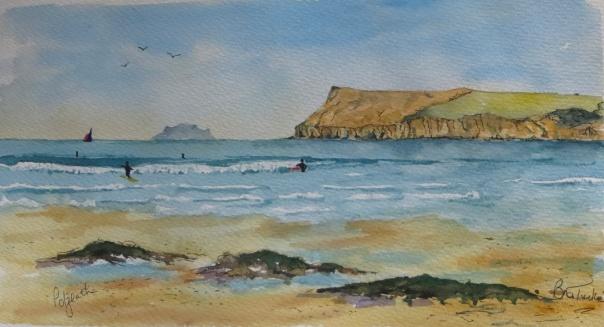 The surfers bay at Polzeath