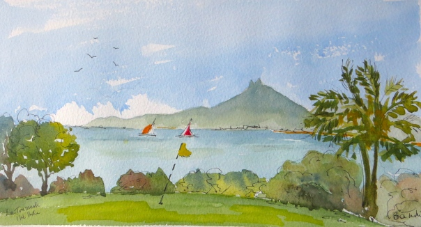 The 11th hole at Le Tousserok, Mauritius