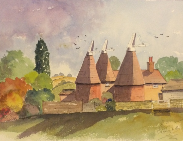 Oast houses near Laddingford