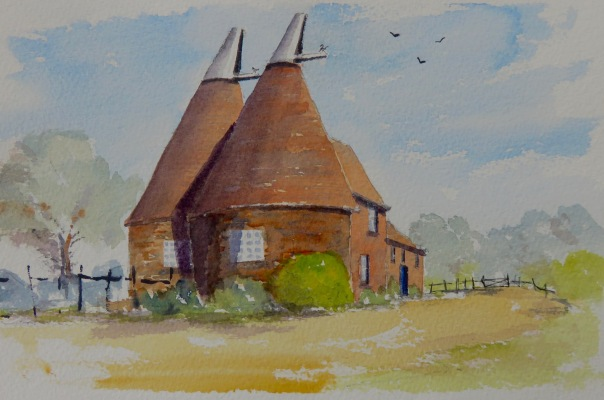 Oast houses near Headcorn in kent