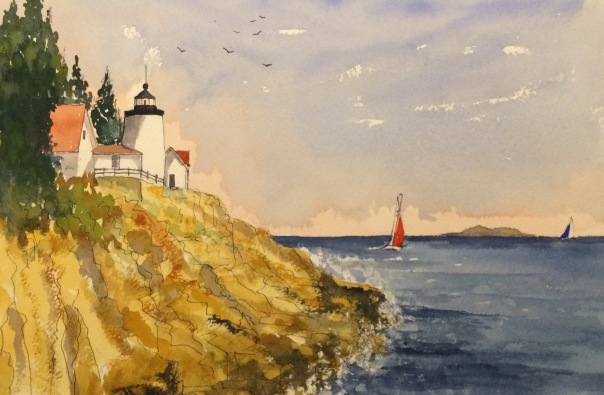 Lighthouse on Mount Desert Island near Bar Harbor